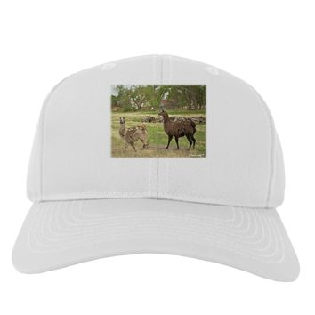 Standing Llamas Adult Baseball Cap Hat by TooLoud