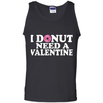 Funny Valentine's Day Cute Donut Lovers  Tank Top