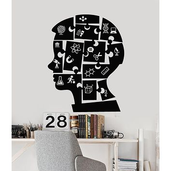 Vinyl Wall Decal Boy Puzzles Education Science Chemistry Physics School Stickers Mural (g946)