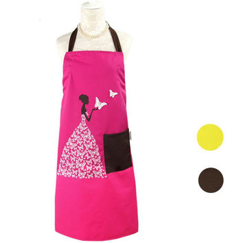Pretty Canvas Aprons with Vintage Painting
