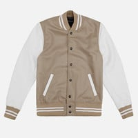 Wool Stadium Jacket / Beige