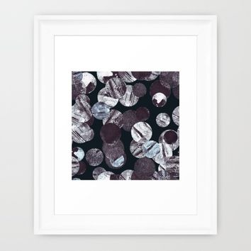 Space Stones Framed Art Print by Susanna Nousiainen