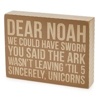 Primitives by Kathy 'Dear Noah' Box Sign