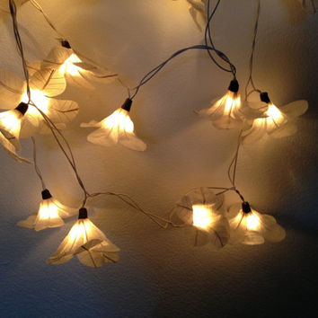 20 Bulbs Natural white Allamanda cathartica flowers string lights for party & decoration