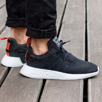 Best Online Sale Adidas NMD R2 Primeknit CG3384 Boost Sport Running Shoes Classic Casual Shoes Sneakers