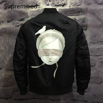 2017 supremitied Jacket Tour MA1 Flight  Army Autumn Winter KANYE WESTJapanese Bomber Jacket High quality Harajuku Men Jackets