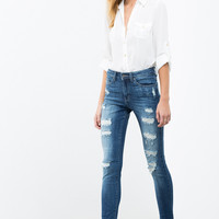 Dominic Distressed Skinny Jeans