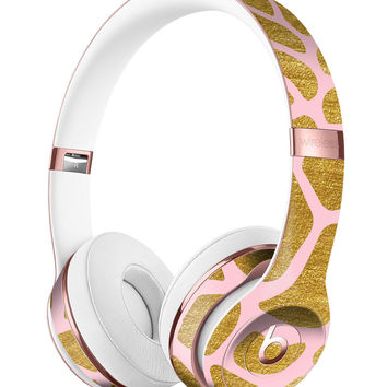 Pink Gold Flaked Animal v7 Full-Body Skin Kit for the Beats by Dre Solo 3 Wireless Headphones