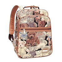 Cartoon Bear Print Backpack Travelling Bag