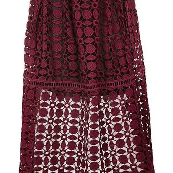 Geo Lace Prom Skirt