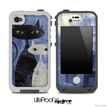 Abstract Blue Cat Painting V2 Skin for the iPhone 5 or 4/4s LifeProof Case