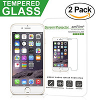amFilm iPhone 6S Tempered Glass Screen Protector for Apple iPhone 6, iPhone 6S 2015 (2-Pack)
