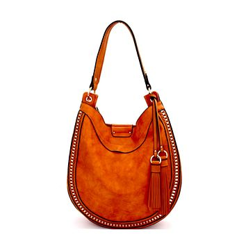 Sold Out Show Hobo Bag - Cognac