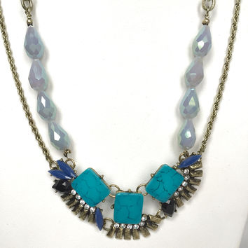 Earth Angel Turquoise Statement Necklace Set