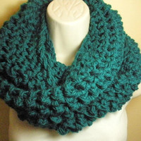 Teal Cowl Infinity Circle Scarf Neckwarmer