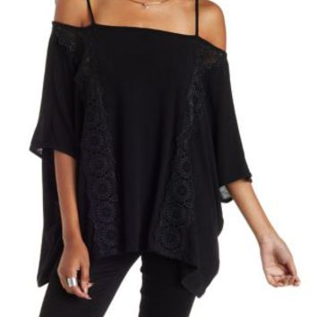 Off-the-Shoulder Poncho Top by Charlotte Russe