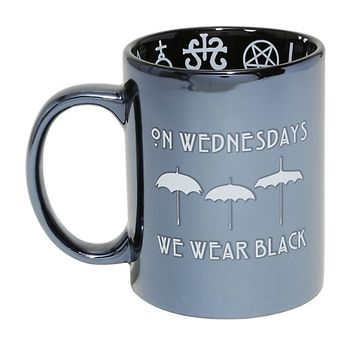 American Horror Story On Wednesdays We Wear Black Ceramic Mug