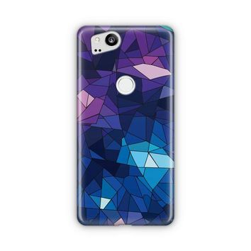 With Blue Glass Design Google Pixel 3 Case | Casefantasy
