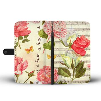 Music Roses Wallet Phone Case