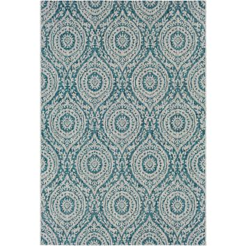 Eagean lll Indoor Outdoor Rug | Teal