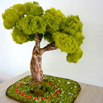 dollhouse tree,  miniature tree , fairy garden gift ideas, christmas gift