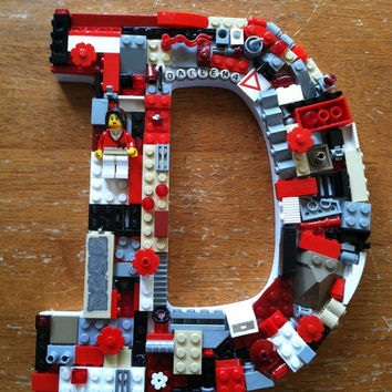 Custom girl wall letter, toy bricks, D