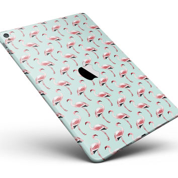 "The All Over Mint Flamingo Pattern Full Body Skin for the iPad Pro (12.9"" or 9.7"" available)"