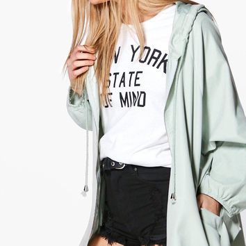 Olivia Hooded Lightweight Parka | Boohoo
