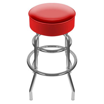 High Grade Red Padded Bar Stool - Made In USA