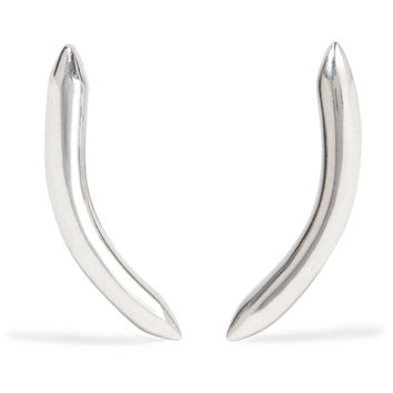 Curved Cylinder silver-plated earrings | Jennifer Fisher | US | THE OUTNET