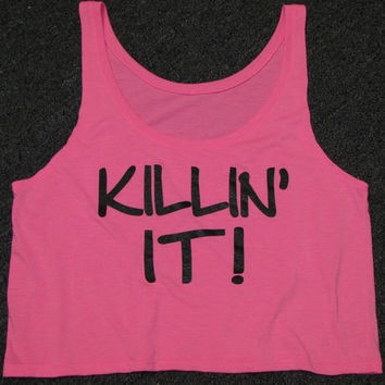 Killin IT Flowy Boxy Tank. Fitness Tank. Workout Shirt. Crop Top. Flowy Tank. Motivational Tank. FIT. Beast Mode. Crossfit. WorkItWear
