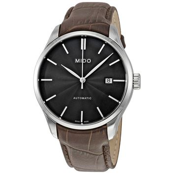 Mido Belluna II Automatic Black Dial Brown Leather Mens Watch M024.407.16.061.00