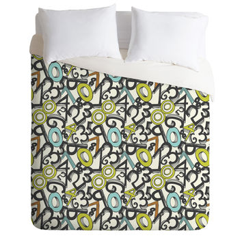 Heather Dutton Numero Uno Duvet Cover