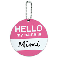 Mimi Hello My Name Is Round ID Card Luggage Tag