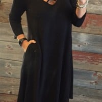 Fall Fun Dress: Black