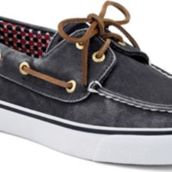Sperry Top-Sider Bahama Canvas 2-Eye Boat Shoe NavyCanvas, Size 8M  Women's Shoes