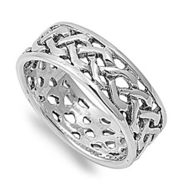 925 Sterling Silver Weaved Thorns Ring