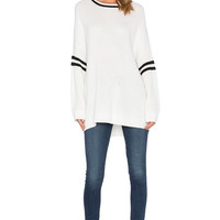 State of Being Myles Sweater in Cream & Black