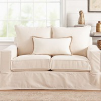 PB Comfort Square Slipcovered Loveseat