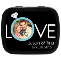 Love Personalized Photo Mint Tins, Personalized Wedding Favor, Edible Favor Idea