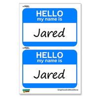 Jared Hello My Name Is - Sheet of 2 Stickers