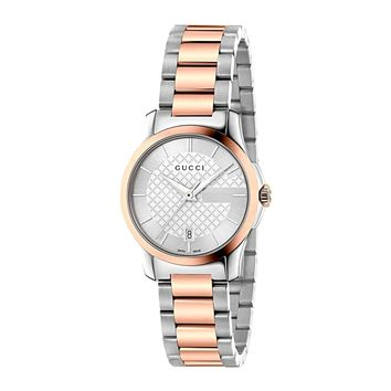 Gucci G-Timeless Two Tone Stainless Steel Swiss Quartz Ladies' Watch