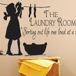 "Laundry Sign-The Laundry Room Decal -Sorting Out Life . Vinyl wall decal, vinyl transfer, laundry quote with laundry girl. 18""H x 28 ""W"