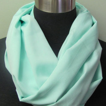 Light Seafoam Mint Infinity Scarf