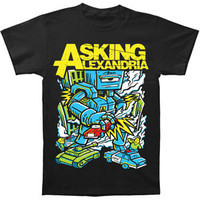 Asking Alexandria Men's  Killer Robot Slim Fit T-shirt Black