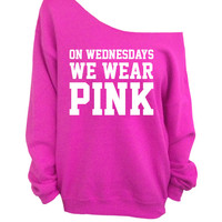 On Wednesdays We Wear Pink - Pink Slouchy Oversized CREW Sweatshirt