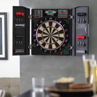 Bullshooter by Arachnid E-Bristle 1000 Electronic Dart Board Complete Set - Dart Boards at Hayneedle
