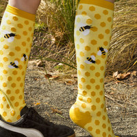 Socks by Sock Dreams » .Socks » Knee Highs » Bee's Knees Knee High