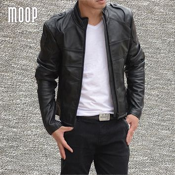 Black genuine leather jacket and coats men 100% cowskin motorcycle jacket chaqueta moto hombre veste cuir homme cappotto LT778