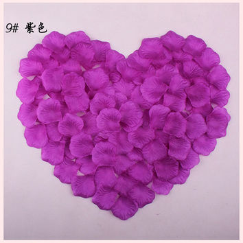 3600 Artificial Silk Rose Petals Wedding Party Decorations Aisle Runners Flower Girl Tossing Table 17 Colors FL002 wedding petal